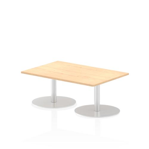 Italia Poseur Table Rectangle 1200/800 Top 475 High Maple