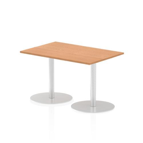 Italia Poseur Table Rectangle 1200/800 Top 725 High Oak
