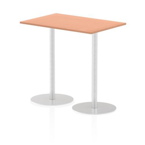 Italia Poseur Table Rectangle 1200/800 Top 1145 High Beech