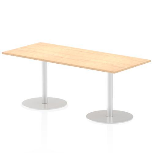 Italia Poseur Table Rectangle 1800/800 Top 725 High Maple