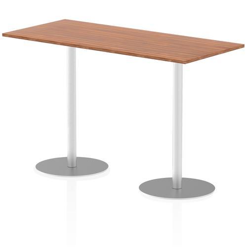 Italia Poseur Table Rectangle 1800/800 Top 1145 High Walnut