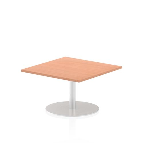 Italia Poseur Table Square 800/800 Top 475 High Beech