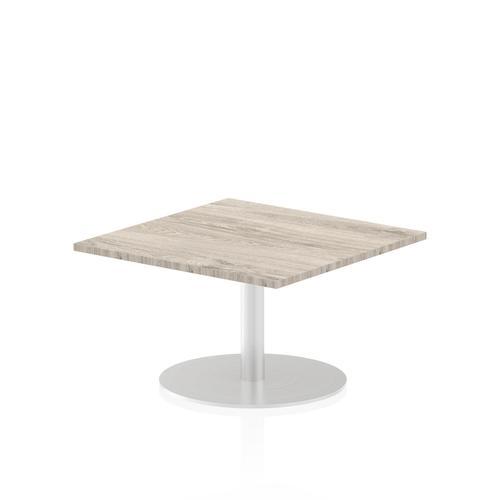 Italia Poseur Table Square 800/800 Top 475 High Grey Oak