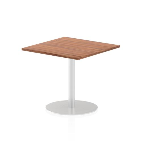 Italia Poseur Table Square 800/800 Top 725 High Walnut