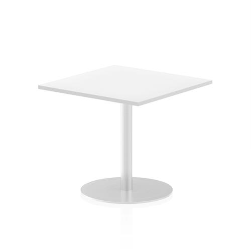 Italia Poseur Table Square 800/800 Top 725 High White