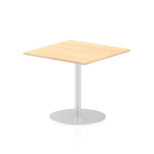 Italia Poseur Table Square 800/800 Top 725 High Maple