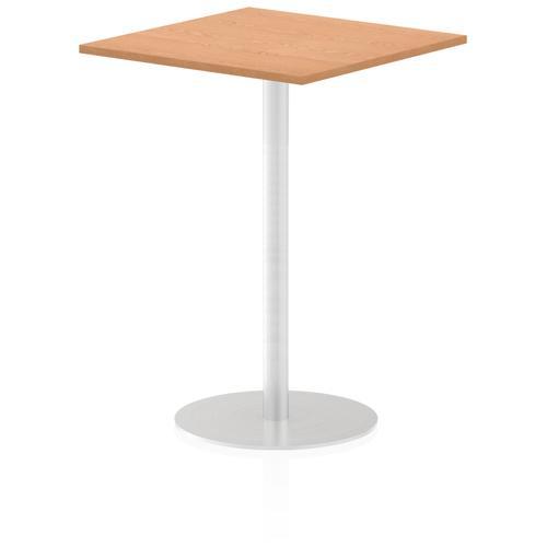 Italia Poseur Table Square 800/800 Top 1145 High Oak