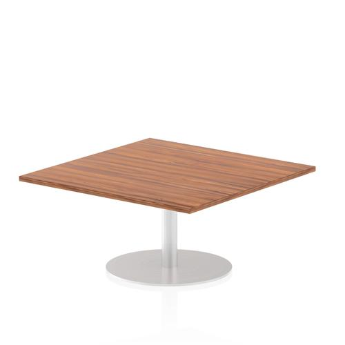Italia Poseur Table Square 1000/1000 Top 475 High Walnut