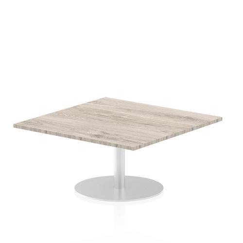 Italia Poseur Table Square 1000/1000 Top 475 High Grey Oak