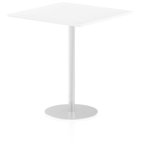 Italia Poseur Table Square 1000/1000 Top 1145 High White