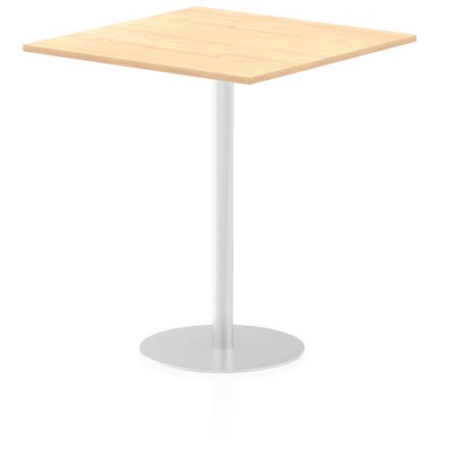Italia Poseur Table Square 1000/1000 Top 1145 High Maple