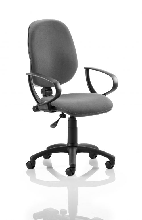 Eclipse Plus I Charcoal Chair With Loop Arms KC0016