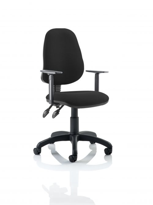 Eclipse Plus II Chair Black Adjustable Arms KC0027