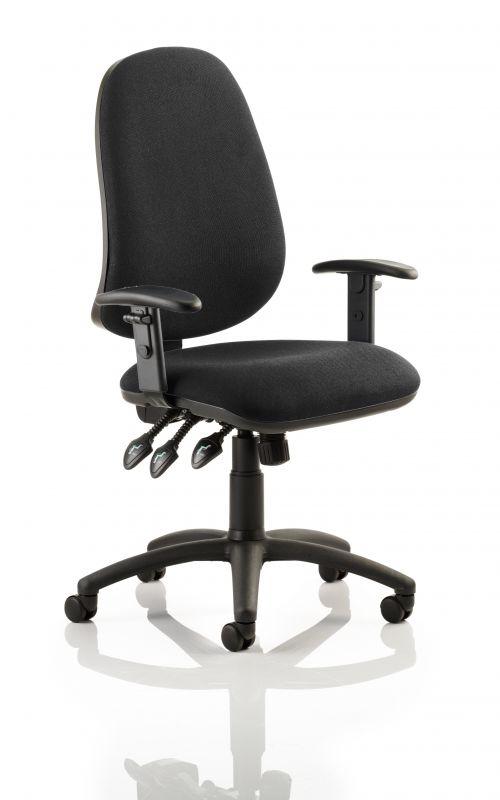 Eclipse Plus XL Chair Black Adjustable Arms KC0035
