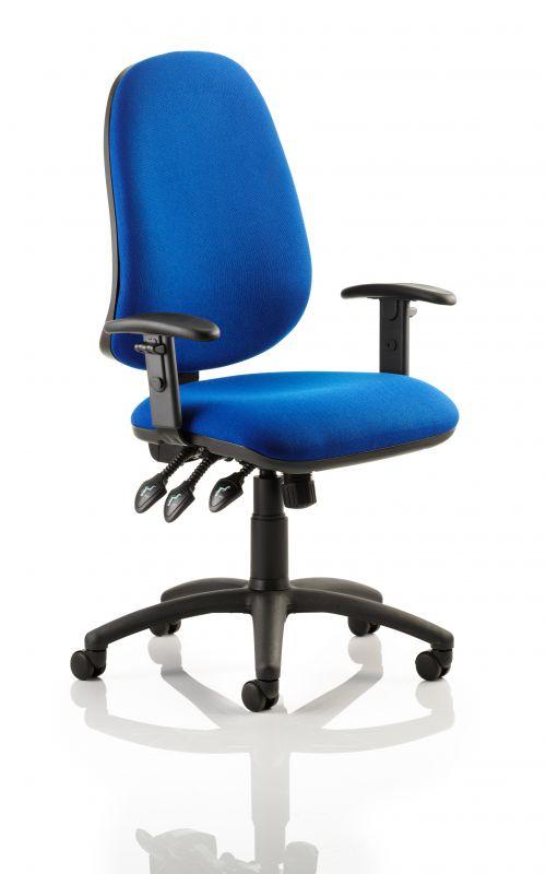 Eclipse Plus XL Chair Blue Adjustable Arms KC0036