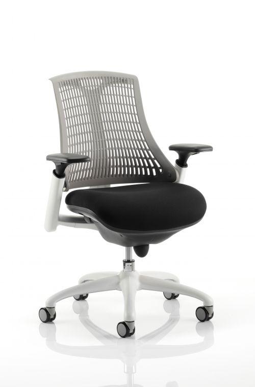 Flex Chair White Frame Grey Back KC0061