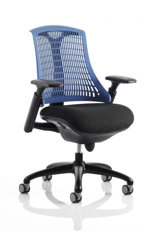 Flex Chair Black Frame With Blue Back KC0076