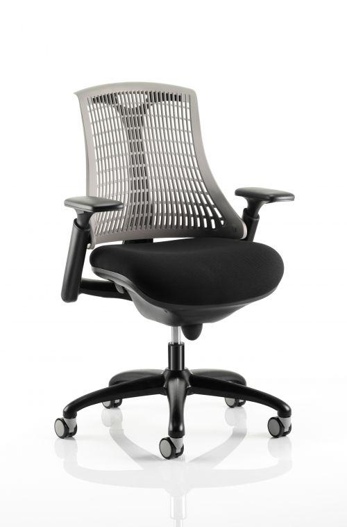 Flex Chair Black Frame With Grey Back KC0077