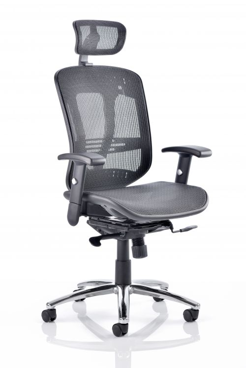 Mirage II Executive Chair Black Mesh With Headrest KC0148