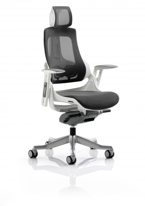 Zure Charcoal Mesh With Arms With Headrest KC0162