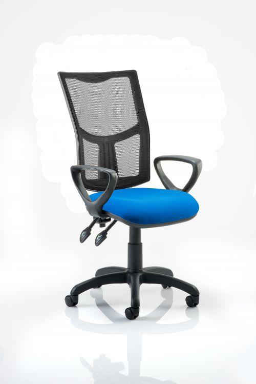 Eclipse Plus II Mesh Chair Blue Loop Arms KC0176