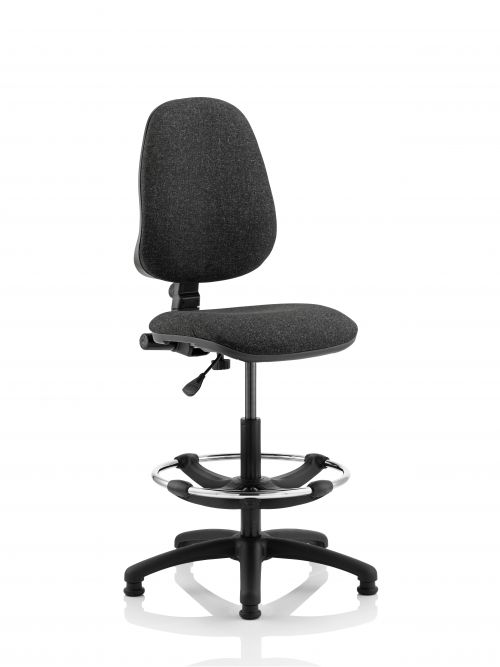 Eclipse Plus I Charcoal Chair With Hi Rise Kit KC0240