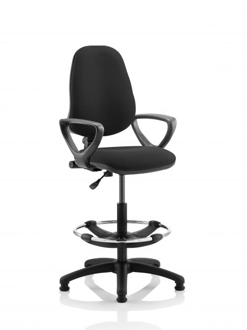 Eclipse Plus I Black Chair With Loop Arms With Hi Rise Kit KC0242