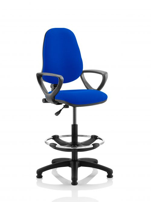 Eclipse Plus I Blue Chair With Loop Arms With Hi Rise Kit KC0243