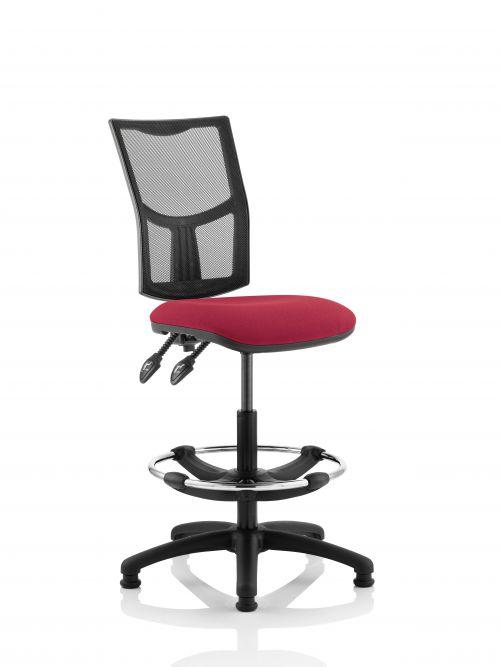 Eclipse Plus II Mesh Chair Wine Hi Rise Kit KC0265