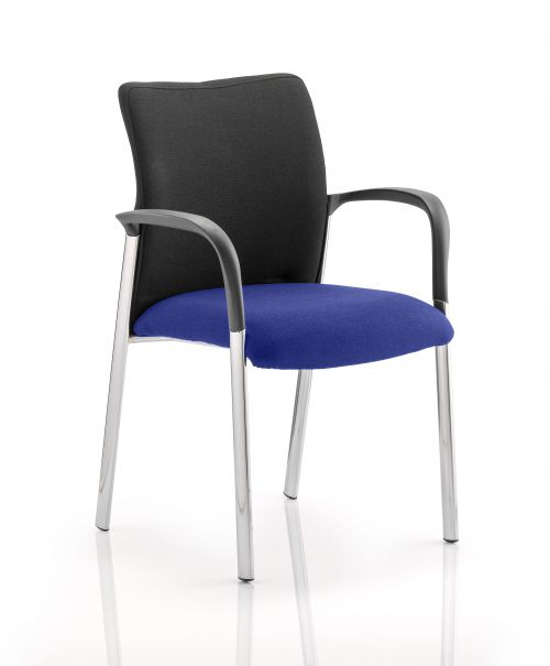 Academy Black Back Seat with Arms Stevia Blue