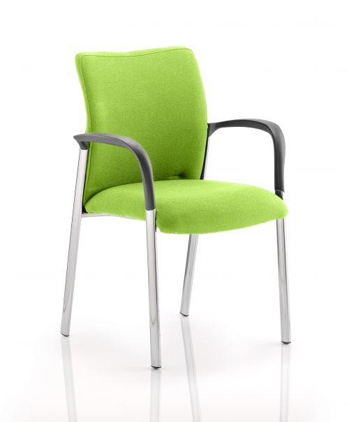 Academy Fully Bespoke Fabric Chair with Arms Myrrh Green