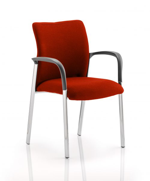 Academy Fully Bespoke Fabric Chair with Arms Tabasco Red