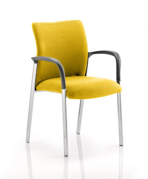 Academy Fully Bespoke Fabric Chair with Arms Senna Yellow