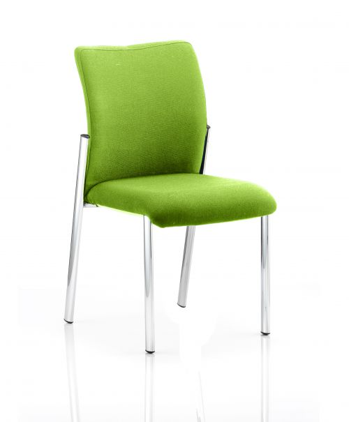 Academy Bespoke Colour Fabric Back With Bespoke Colour Seat Without Arms Lime