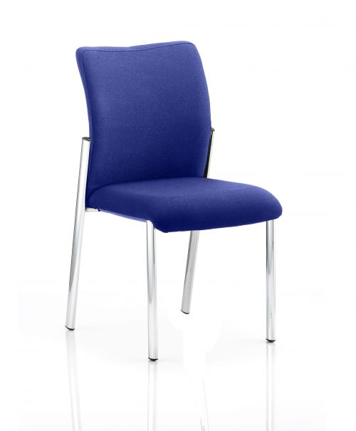 Academy Bespoke Colour Fabric Back With Bespoke Colour Seat Without Arms Admiral Blue