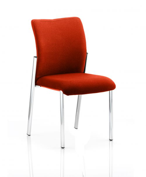 Academy Bespoke Colour Fabric Back With Bespoke Colour Seat Without Arms Orange