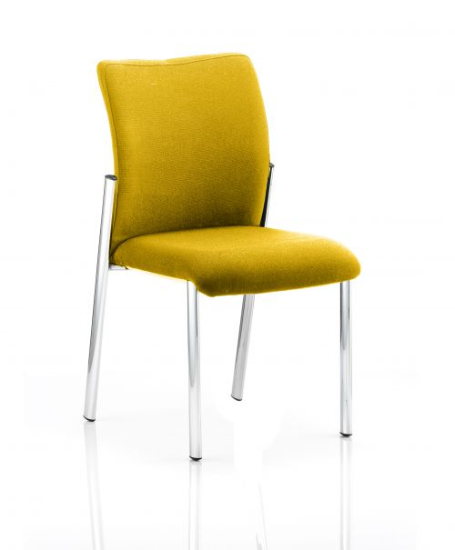Academy Bespoke Colour Fabric Back With Bespoke Colour Seat Without Arms Yellow