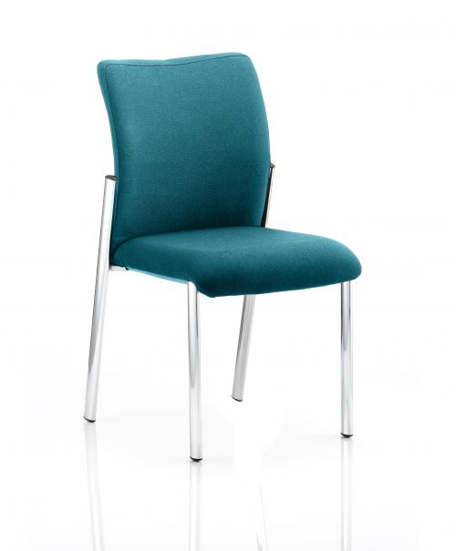 Academy Bespoke Colour Fabric Back With Bespoke Colour Seat Without Arms Teal