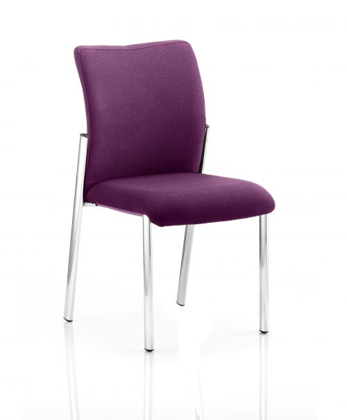 Academy Bespoke Colour Fabric Back With Bespoke Colour Seat Without Arms Purple