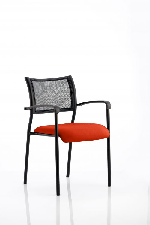 Brunswick Bespoke Colour Seat Black Frame Tabasco Red