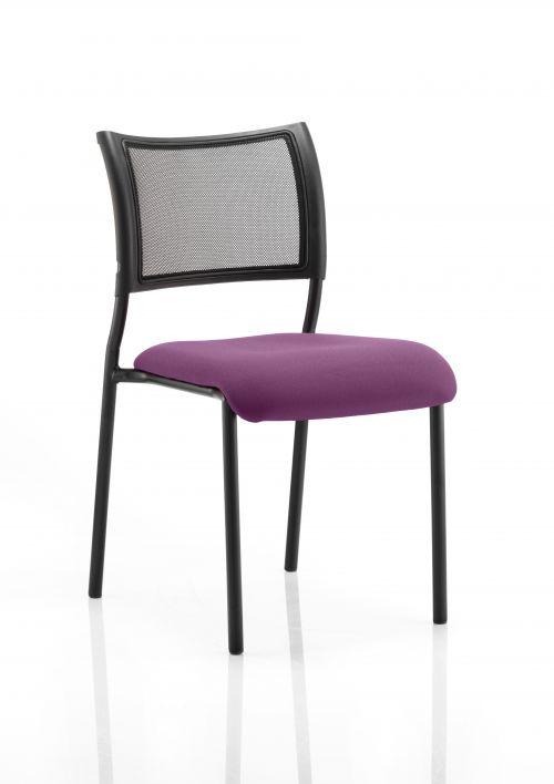 Brunswick Bespoke Seat Black Frame Tansy Purple