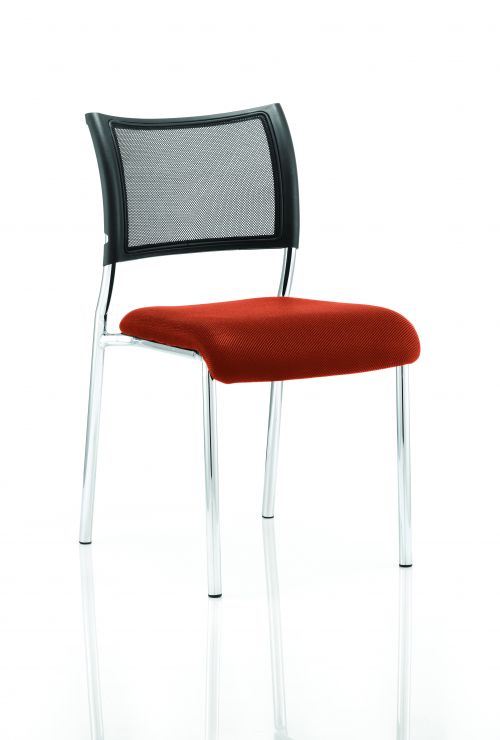 Brunswick Bespoke Seat Chrome Frame Tabasco Red