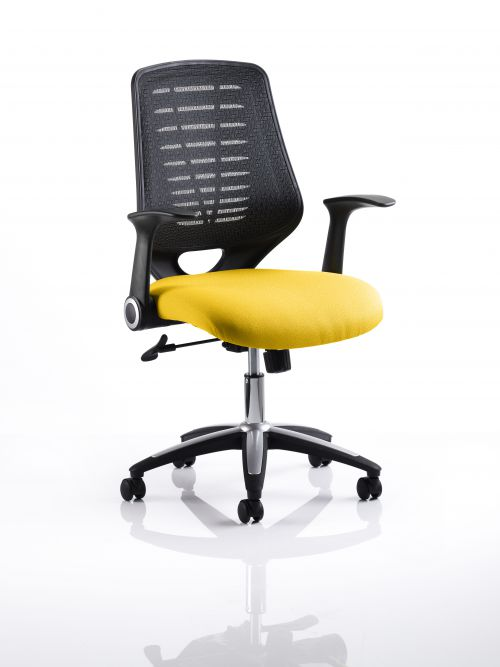 Relay Task Operator Chair Bespoke Colour Black Back Yellow