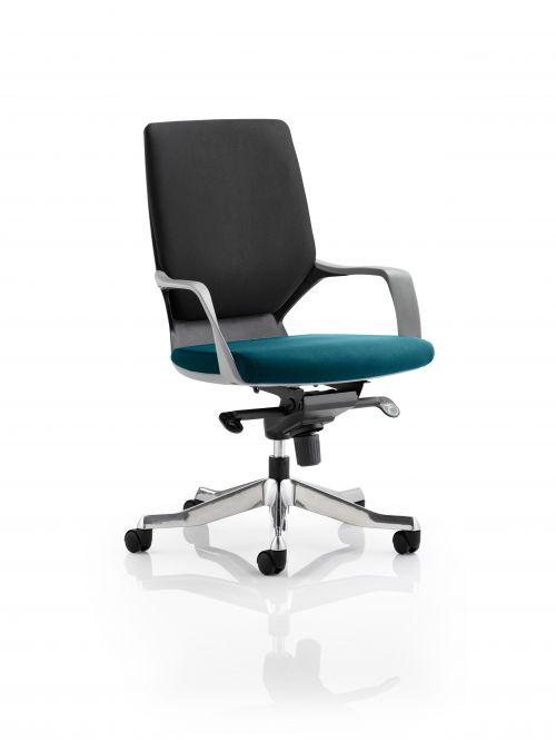 Xenon Executive Black Shell Medium Back Bespoke Colour Seat Teal