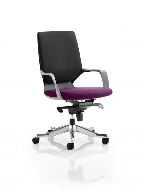 Xenon Executive Black Shell Medium Back Bespoke Colour Seat Purple