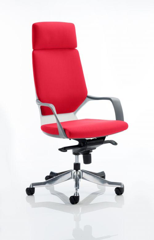 Xenon Headrest White Shell Bespoke Colour Post Box Red