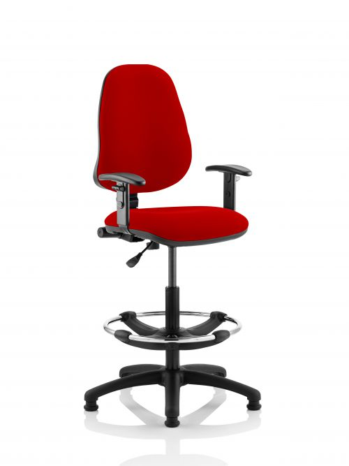 Eclipse Plus I Chair with Adjustable Arms Hi Rise Bergamot Cherry KCUP1130