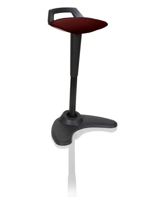 Spry Stool Black Frame Bespoke Seat Ginseng Chilli KCUP1203