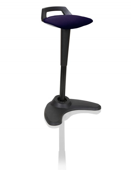 Spry Stool Black Frame Bespoke Seat Tansy Purple KCUP1206