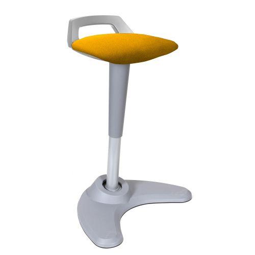 Spry Stool Grey Frame Bespoke Seat Senna Yellow KCUP1216